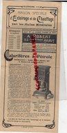 75- PARIS- RARE DEPLIANT A. ROBERT-MAISON C. CLERT- RUE DROUOT- ECLAIRAGE CHAUFFAGE DES VILLES -HUILE PETROLE-CALORIFERE - Electricity & Gas