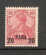 006615 German PO In Turkey 1900 20 Para MH - Ufficio: Turchia