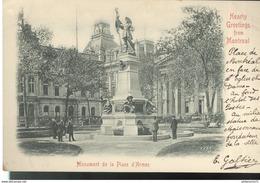 CPA Quebec - Montréal - Monument De La Place D'Armes - Circulée - Montreal