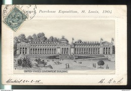 CPA Saint Louis - Louisiana Purchase Exposition 1904 - United States Government Building - Circulée 1905 - St Louis – Missouri