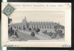 CPA Saint Louis - Louisiana Purchase Exposition 1904 - Palace Of Manufactures - Circulée 1905 - St Louis – Missouri
