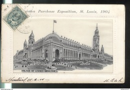 CPA Saint Louis - Louisiana Purchase Exposition 1904 - Palace Of Varied Industries - Circulée 1905 - St Louis – Missouri