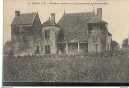 CPA  Saint Maurice - Maison Natale Du Commandant Schwardin -  Circulé - Autres Communes