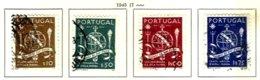 PORTUGAL, Commemoratives, AF 660-63 Yv 671-74, Used, F/VF, Cat. € 8 - 1910-... République