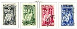 PORTUGAL, Commemoratives, AF 673-76 Yv 684-87, Used, F/VF, Cat. € 7 - 1910-... République