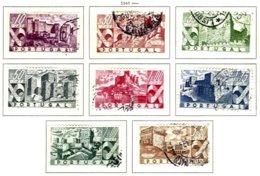 PORTUGAL, Commemoratives, AF 664-71 Yv 675-82, Used, F/VF, Cat. € 27 - 1910-... République