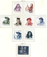 PORTUGAL, Commemoratives, AF 672, 677-84 Yv 683, 688-95, Used, F/VF, Cat. € 35 - 1910-... République