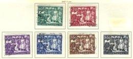 PORTUGAL, Commemoratives, AF 685-90 Yv 696-701, Used, F/VF, Cat. € 52 - 1910-... République