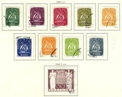PORTUGAL, Commemoratives, AF 695-704 Yv 706-15, Used, F/VF, Cat. € 31 - 1910-... République