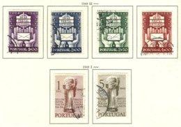 PORTUGAL, Commemoratives, AF 713-18 Yv 724-29, Used, F/VF, Cat. € 12 - 1910-... République