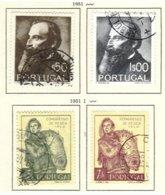 PORTUGAL, Commemoratives, AF 729-32 Yv 740-43, Used, F/VF, Cat. € 3 - Oblitérés