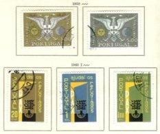 PORTUGAL, Commemoratives, AF 847-48, 851-53; Yv 857-58, 861-63, Used, F/VF, Cat. € 7 - Oblitérés