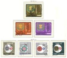 PORTUGAL, Commemoratives, AF 1073-78, Av 11; Yv 1083-88, Av 11, Used, F/VF, Cat. € 13 - 1910-... République