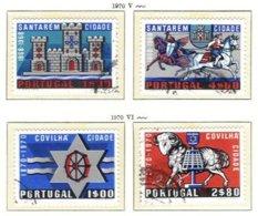 PORTUGAL, Commemoratives, AF 1079-82 Yv 1089-92, Used, F/VF, Cat. € 7 - 1910-... République