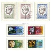 PORTUGAL, Commemoratives, AF 1106-12 Yv 1116-22, Used, F/VF, Cat. € 7 - 1910-... République