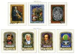 PORTUGAL, Commemoratives, AF 1164-70 Yv 1162-68, Used, F/VF, Cat. € 7 - 1910-... République
