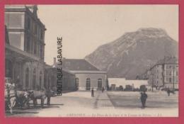 38 - GRENOBLE---La Place De La Gare Et Le Caque De Néron---animé - Grenoble