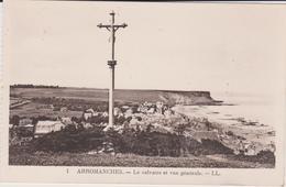 Calvados : ARROMANCHES :  Le  Calvaire  (  Carte  Carnet ) - Arromanches