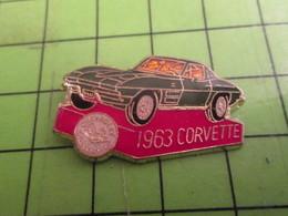 716c Pin's Pins : Rare Et Belle Qualité : THEME AUTOMOBILES : CORVETTE De 1963 - Corvette