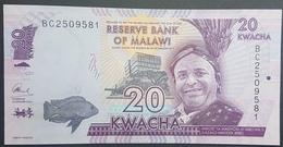 E11kb Banknote - Malawi 20 Kawacha, 2016, P-57, UNC - Malawi