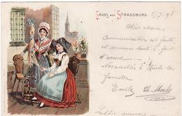 67 GRUSS AUS STRASSBURG (5 / 07 / 1898) - Strasbourg