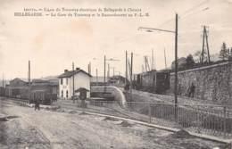Gare Du Tramway Et La Raccordement - Ligne Du Tramway électrique De Bellegarde à Chézery - Bellegarde-sur-Valserine