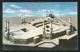 Saudi Arabia Picture Eid Greeting Card Aerial View Holy Mosque Kaaba Mecca Islamic View Card Size 17 X 11 Cm - Saudi Arabia
