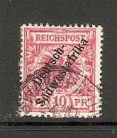 006628 German South West Africa 1898 10pf FU - Colony: German South West Africa