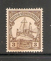 006629 German South West Africa 1901 3pf MH - Colony: German South West Africa