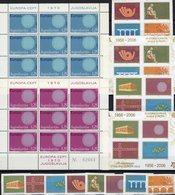 EUROPA 1970 JUGOSLAVIJA 1379/0 KB,3257/4,VB+Blocks 59/0B ** 85€ Symbol Sonne Hb S/s Blocs Sheetlets Bf Topics CEPT - 1945-1992 République Fédérative Populaire De Yougoslavie
