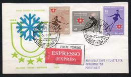 UNIVERSIADE D'INVERNO Di Torino Del 1966: FDC  Con Serie Emessa Dalle Poste - Sport Invernali