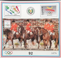 "Paraguay  Summer Olympics, Barcelona""92 S/S White Border - Paraguay"