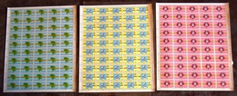 CONGO KINSHASA COB 782/84  COMPLETE SHEETS MNH - Neufs
