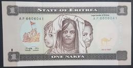 E11kb Banknote - Eritrea 1 Nakfa, 1997, P-1, UNC - Eritrea