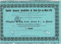 69-IMMOBILIERE DE SAINT-CYR-AU-MONT-d'OR.  Rhône - Other