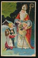 VIVE ST.NICOLAS  KINDEREN  !!!!!!!!!! KAART BESCHADIGD - Nikolaus