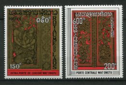 9738  LAOS N° 193/4 *  Portique  Wat Ongtu   1969  TB/TTB - Laos