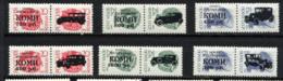 KOMI, AUTOMOBILES / CARS, Emission Locale / Local Issue Sur SU RUSSIA, 6 Valeurs Surcharges / Overprinted. R315 - Vignettes De Fantaisie