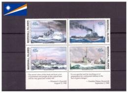 Îles Marshall 1990 - MNH** - Seconde Guerre Mondiale - Militaria - Bateaux - Michel Nr. 310-313 Série Complète (mhl199) - Marshall