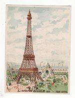 Chromo   MERCERIE LAMBRON   Exposition Universelle 1889    La Tour Eiffel - Trade Cards