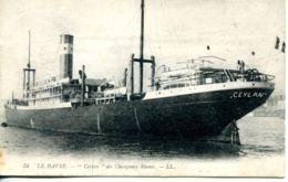 """N°66656 -cpa Le Havre -""""Ceylan"""" Paquebot Mixte Des Chargeurs Réunis- - Dampfer"""