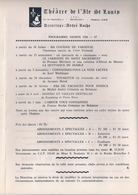 THÉATRE DE L'ILE ST LOUIS (BRUXELLES) SAISON 1966-67 - PROCHAIN SPECTACLE 'MA COUSINE DE VARSOVIE' De LOUIS VERNEUIL - Programmes