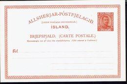 ISLANDE - Carte Entier Postal Neuve 25 Aur - TB - - Entiers Postaux