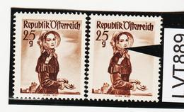 LTV889 ÖSTERREICH 1951 Michl 916 PLATTENFEHLER FARBFLECK WANGE ** Postfrisch - Abarten & Kuriositäten