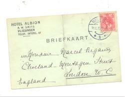 Carte Posale Pré Imprimée  - Hôtel ALBION, VLISSINGEN 1915 - Guerre 14/18  (375) B240 - Lettres & Documents