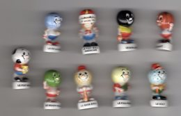 Série 9/12 Fèves Brillantes LES ROIS DU BALLON -nordia 2002 - Sports