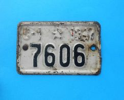 Ex YUGOSLAVIA ( 1947.) ... Vintage Motorcycle - Bicycle License Plate Moto Motorcycle Motorbike Motorrad Motocyclette - Plaques D'immatriculation