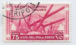 Italian Colonies Scott # 36 Used Agriculture Implements, 1933 - General Issues