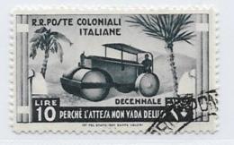 Italian Colonies Scott # 40 Used Steam Roller, 1933, CV$55.00 - Italy