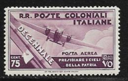 Italian Colonies Scott # C21 Mint Hinged Plane, 1933 - General Issues
